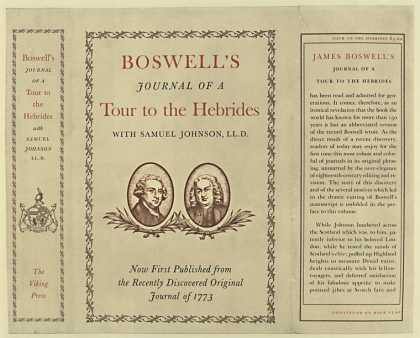 Dust Jackets - Boswell's Journal of a to