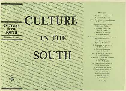 Dust Jackets - Culture in the South.