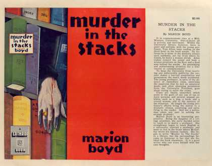 Dust Jackets - Murder in the stacks, by