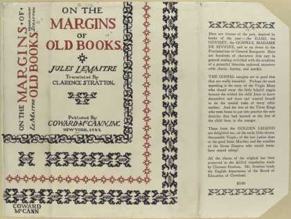 Dust Jackets - On the margins of old boo