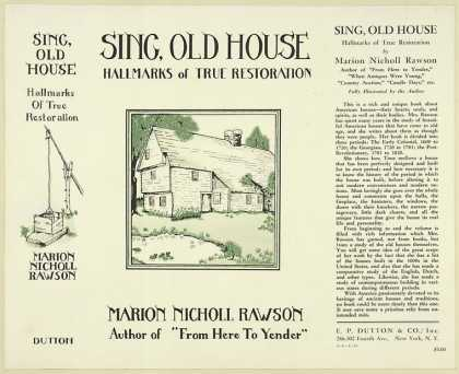 Dust Jackets - Sing, old house : hallmar
