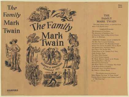Dust Jackets - The family Mark Twain.