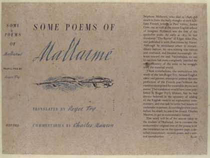 Dust Jackets - Some poems of Mallarmé /