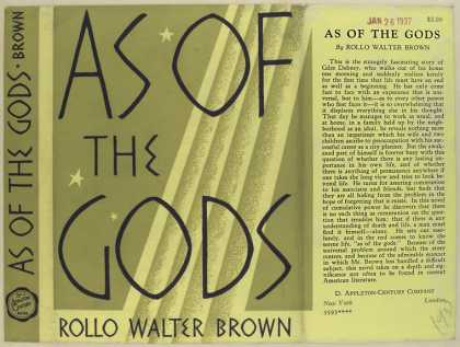 Dust Jackets - As of the gods / Rollo Wa