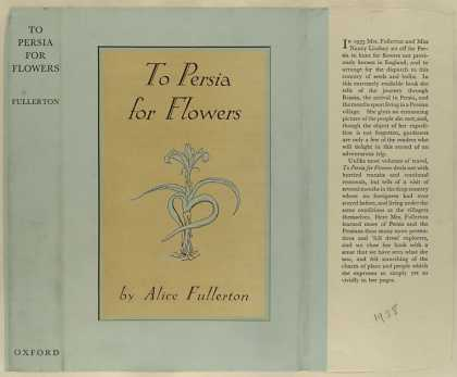 Dust Jackets - To Persia for flowers / b