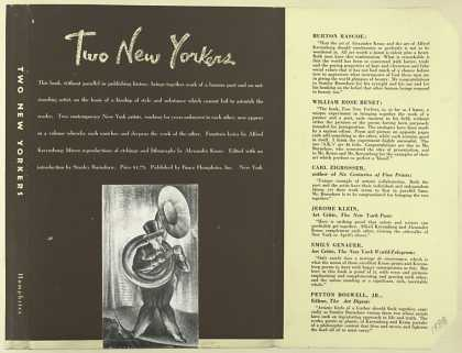 Dust Jackets - Two New Yorkers / fifteen