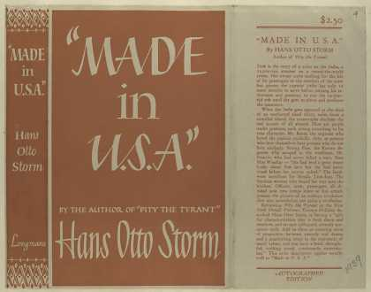 "Dust Jackets - ""Made in U. S. A.&qu"