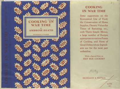 Dust Jackets - Cooking in war time.