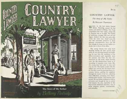Dust Jackets - Country lawyer.