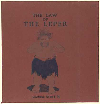 Dust Jackets - The law of the leper.