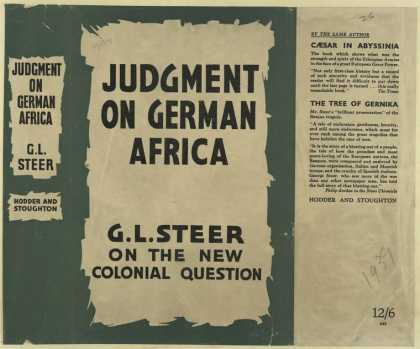 Dust Jackets - Judgment on German Africa