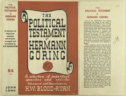 Dust Jackets - The political testament o