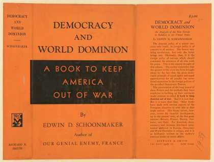 Dust Jackets - Democracy and world domin
