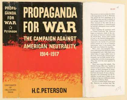 Dust Jackets - Propaganda for war the c
