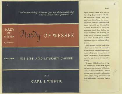 Dust Jackets - Hardy of Wessex : his lif