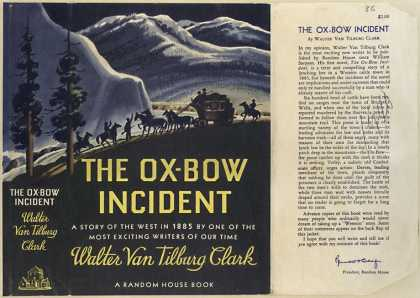 Dust Jackets - The Ox-bow incident.