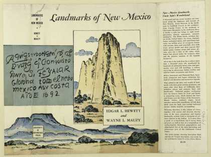 Dust Jackets - Landmarks of New Mexico.