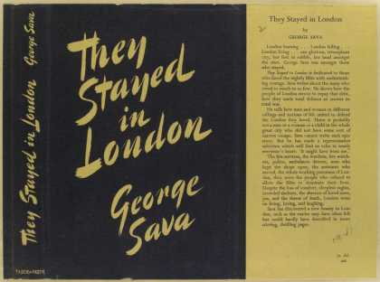 Dust Jackets - They stayed in London.