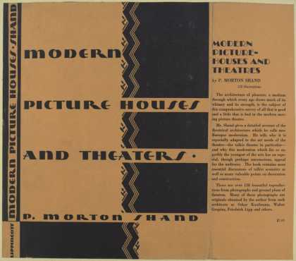 Dust Jackets - Modern picture-houses and