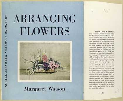Dust Jackets - Arranging flowers.