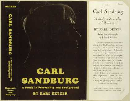 Dust Jackets - Carl Sandburg a study in