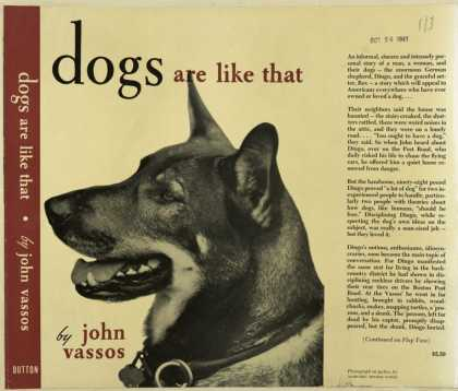 Dust Jackets - Dogs are like that.