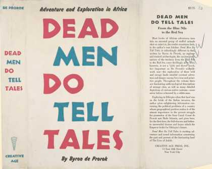 Dust Jackets - Dead men do tell tales.