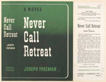 Dust Jackets - Never call retreat.