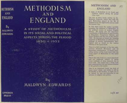 Dust Jackets - Methodism and England a