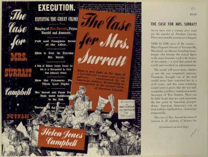 Dust Jackets - The case for Mrs. Surratt