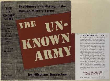 Dust Jackets - The unknown army the nat