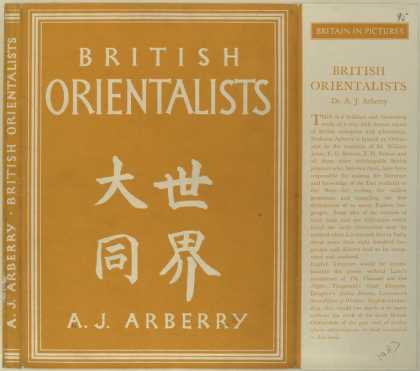 Dust Jackets - British orientalists.