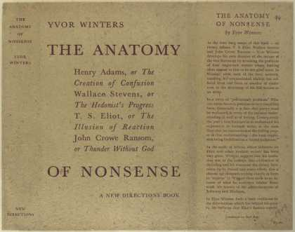 Dust Jackets - The anatomy of nonsense.