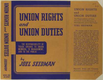 Dust Jackets - Union rights and union du