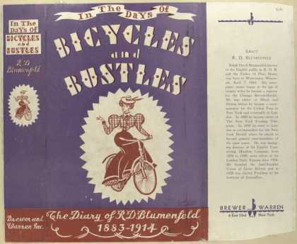 Dust Jackets - In the days of bicycles a