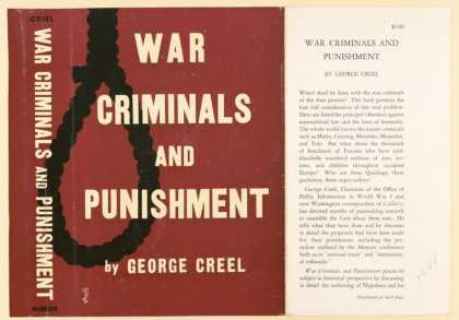 Dust Jackets - War criminals and punishm
