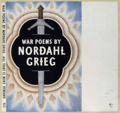 Dust Jackets - War poems of Nordahl Grie