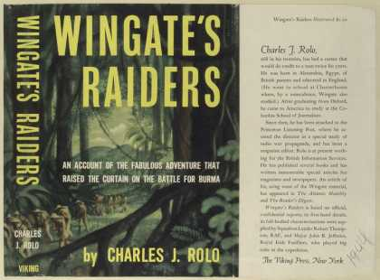 Dust Jackets - Wingate's raiders : an ac