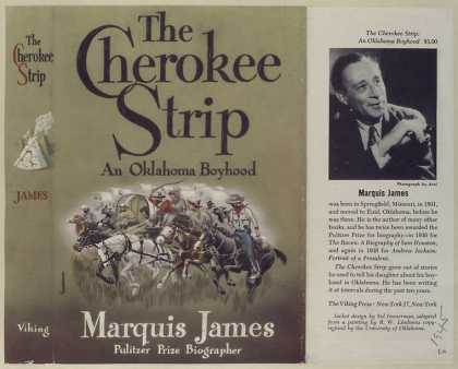 Dust Jackets - The Cherokee strip, a tal