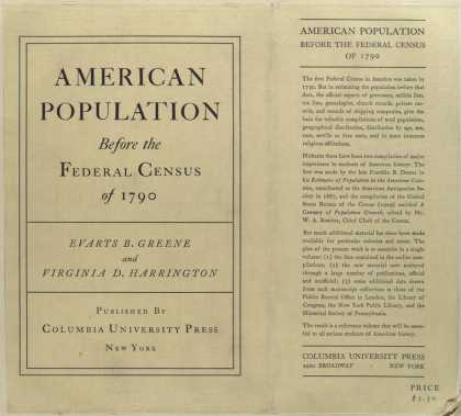 Dust Jackets - American population befor