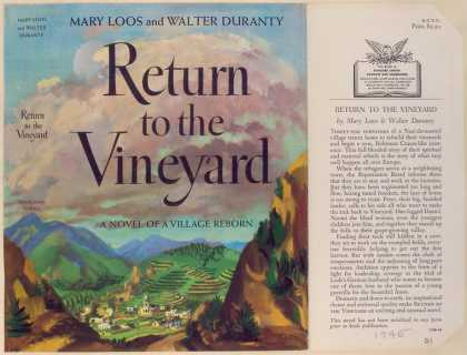 Dust Jackets - Return to the vineyard.