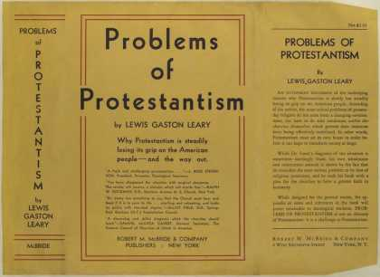 Dust Jackets - Problems of Protestantism
