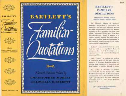 Dust Jackets - Bartlett's Familiar Quota