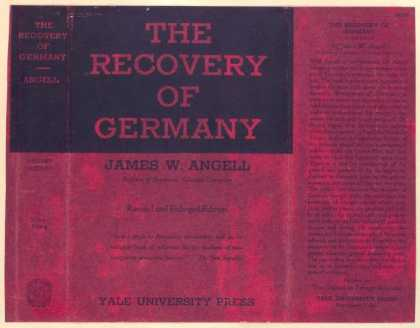 Dust Jackets - The recovery of Germany.