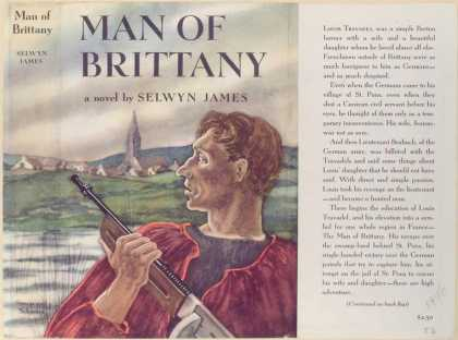 Dust Jackets - Man of Brittany, a novel.