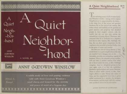 Dust Jackets - A Quiet Neighborhood, by