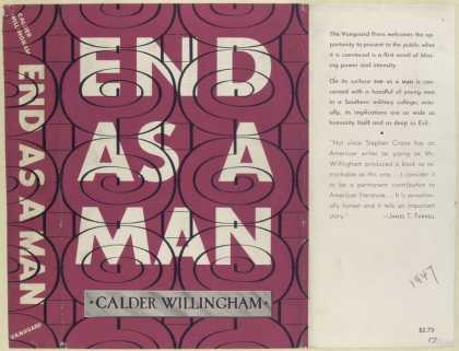 Dust Jackets - End as a Man, by Calder W