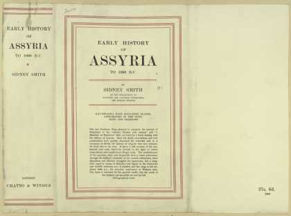 Dust Jackets - Early history of Assyria