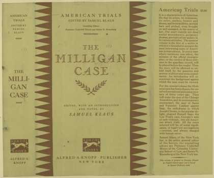 Dust Jackets - The Milligan case.