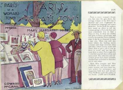 Dust Jackets - Paris is a woman's town.